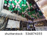 ribbons of white and green...   Shutterstock . vector #536874355