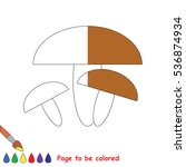 brown mushroom to be colored ... | Shutterstock .eps vector #536874934