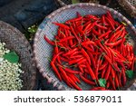 Chili And Garlic In A Market I...