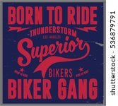 vintage biker graphics and... | Shutterstock .eps vector #536879791