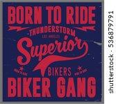 vintage biker graphics and... | Shutterstock .eps vector #536879791
