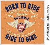 vintage biker graphics and... | Shutterstock .eps vector #536879797
