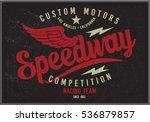 vintage biker graphics and... | Shutterstock .eps vector #536879857
