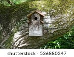 A Man Made Wooden Bird House...