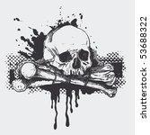 skull. vector illustration | Shutterstock .eps vector #53688322
