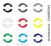 arrow icons. set of flat style. ... | Shutterstock .eps vector #536885341