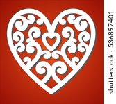 laser cut heart  for paper... | Shutterstock .eps vector #536897401