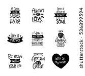 vector calligraphy with decor... | Shutterstock .eps vector #536899594