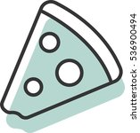 pizza vector icon for website   | Shutterstock .eps vector #536900494