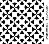 vector monochrome seamless... | Shutterstock .eps vector #536900854