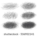 set of ink lines of hand drawn... | Shutterstock .eps vector #536902141