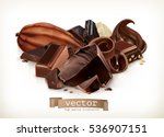 chocolate bars  candy  slices ... | Shutterstock .eps vector #536907151