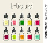 icons of e liquid with... | Shutterstock .eps vector #536910679