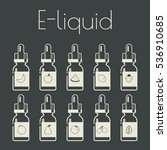 icons of e liquid with... | Shutterstock .eps vector #536910685