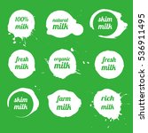 vector milk blots icons ... | Shutterstock .eps vector #536911495