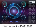 hud background outer space.... | Shutterstock .eps vector #536912209