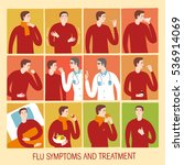 cold and flu stages set.... | Shutterstock .eps vector #536914069