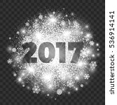 2017 year illustration on... | Shutterstock .eps vector #536914141