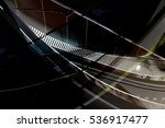 backlit curvilinear ceiling and ... | Shutterstock . vector #536917477