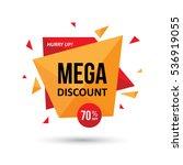 big sale tag  label  web banner ... | Shutterstock .eps vector #536919055