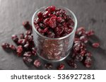 Glass Full Of Dried Cranberrie...