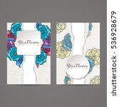 set of vector design templates. ... | Shutterstock .eps vector #536928679