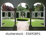 View Of Formal Garden Through...