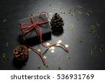 christmas present with shiny... | Shutterstock . vector #536931769