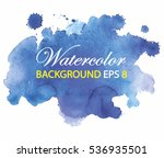 blue spot watercolor paint with ... | Shutterstock .eps vector #536935501
