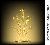 holiday firework vector...   Shutterstock .eps vector #536937865
