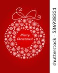christmas and new year wreath... | Shutterstock .eps vector #536938321