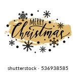 vector merry christmas... | Shutterstock .eps vector #536938585