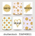 vector set of love cards for... | Shutterstock .eps vector #536940811