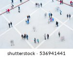 aerial view of crowd. long... | Shutterstock . vector #536941441