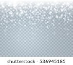 falling glowing snow with stars ... | Shutterstock .eps vector #536945185