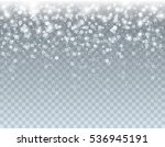 falling glowing white xmas snow ... | Shutterstock .eps vector #536945191