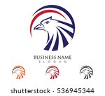 falcon eagle bird logo template ... | Shutterstock .eps vector #536945344
