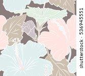 multicolored flowers on a beige ... | Shutterstock . vector #536945551