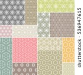 abstract patchwork pattern ... | Shutterstock .eps vector #536947615