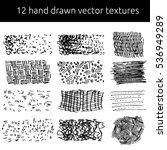 vector pen textures set. grungy ... | Shutterstock .eps vector #536949289