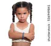 angry african american small...   Shutterstock . vector #536949841