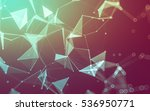 abstract polygonal space low... | Shutterstock . vector #536950771