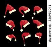 vector cartoon christmas santa...   Shutterstock .eps vector #536951041