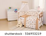 baby room bedding crib   Shutterstock . vector #536953219