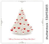 christmas tree decorated in... | Shutterstock .eps vector #536953855