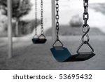 desolate swing set | Shutterstock . vector #53695432