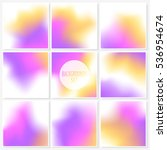 blur backgrounds set. elegant...   Shutterstock .eps vector #536954674