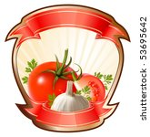 label for a product  ketchup ... | Shutterstock .eps vector #53695642