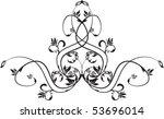 floral element for design   Shutterstock .eps vector #53696014