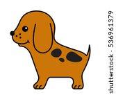 puppy. vector funny cartoon... | Shutterstock .eps vector #536961379